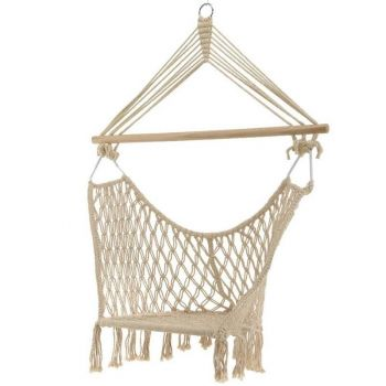 Cream Rope Tassel Hanging Chair