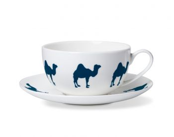alice peto blue camel cup and saucer