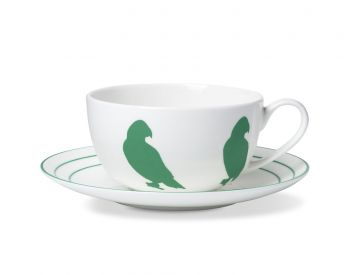 parrot cup and saucer alice peto