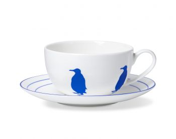 Penguin cup and saucer alice peto