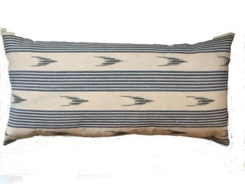 Blue and Grey Mallorcan Stripe Cushion
