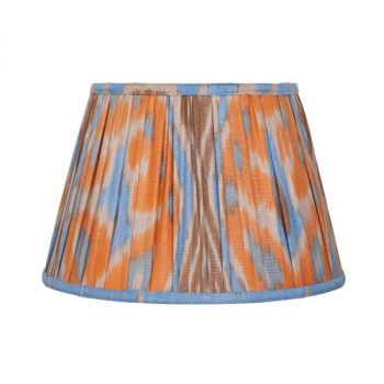 Blue and orange ikat lampshade Melodi Horne