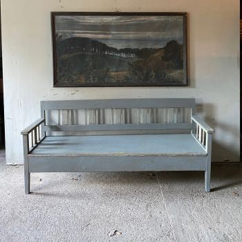 Decorative Modernist Painted Settle