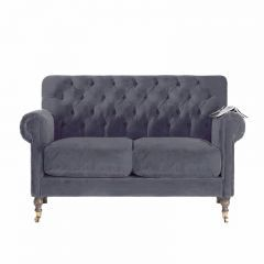 Deep Buttoned Classic Traditional Velvet Sofa