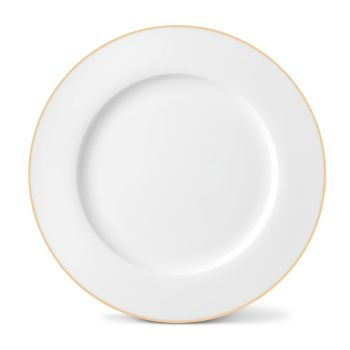 Rainbow Dinner Plate in Gold