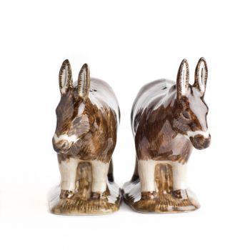 Donkey Salt & Pepper Set Quail Ceramics