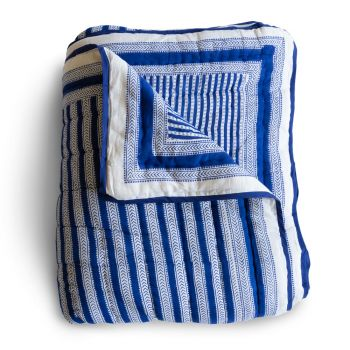 Stripe Quilt in Blue