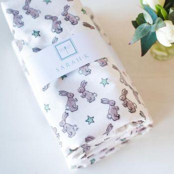 baby Cotton Blanket Rabbit Design Sarah K
