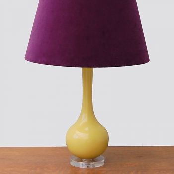 Luxury High Gloss Stoodley Lamp Base in Gorse
