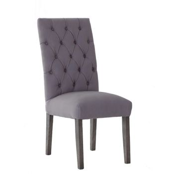 Elegant High Back Deep Buttoned Upholstered Dining Chair Velvet