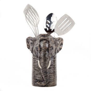 Elephant Utensil Pot Quail Ceramics