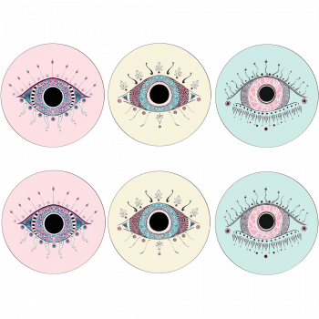 Set of 6 Evil Eye Placemats