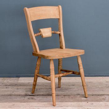 Solid Oak Rustic Farmhouse Dining Chair