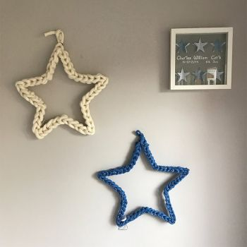 Felted Wool Hanging Star