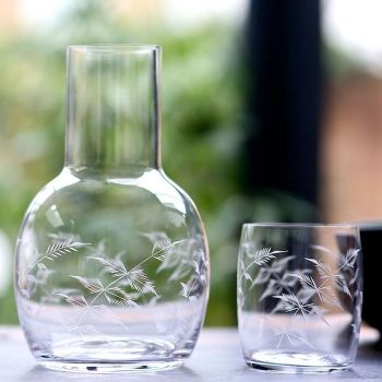 Ferns Carafe & Glass