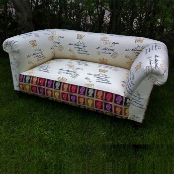 Edwardian Drop Arm Chesterfield Sofa c1910 Main