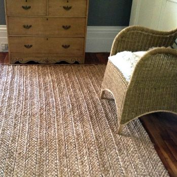 Woven Rush natural grass rug
