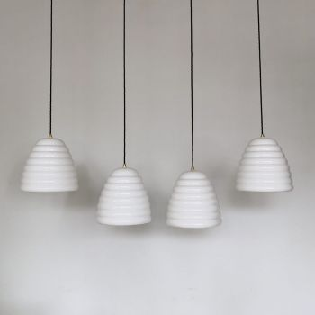 White Ceramic Beehive Shades