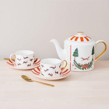 Fox and Rabbits Tea Set Bundle