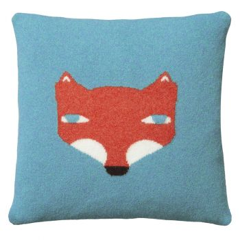 Fox Cushion – Blue