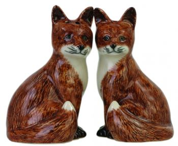 Fox Salt & Pepper Set Quail Ceramics
