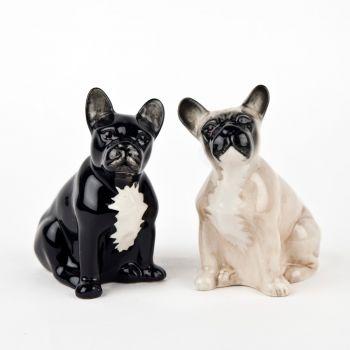 French Bulldog Salt & Pepper Set Quail Ceramics