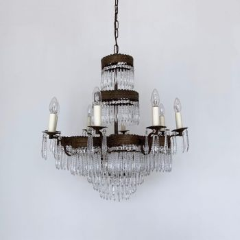 FRENCH CHANDELIER WATERFALL PETAL FRAME