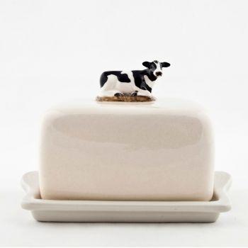 Lying Cow Butter Dish Quail Ceramics