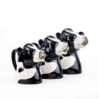 Friesian Cow Jug Quail Ceramics