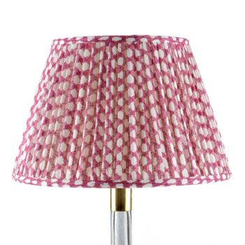 Bespoke Wicker Lampshade in Fuchsia