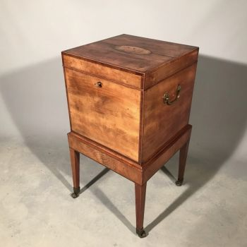 Georgian Antique Mahogany Wine Cooler Table