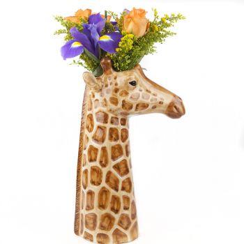 Giraffe Flower Vase Quail Cermics