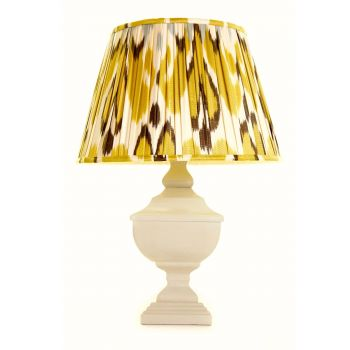 Melodi Horne Gold, Brown & Silver Linen Ikat Lampshade