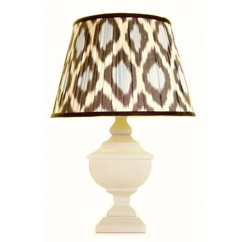 greek eye patterned linen lampshade