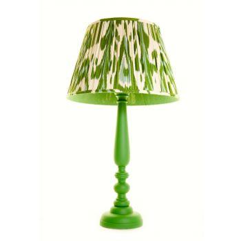 Melodi Horne Green Hearts Ikat Lampshade
