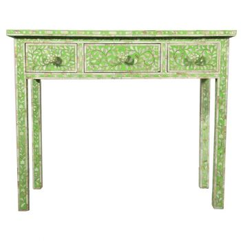 Green Mother of Pearl Dressing Table