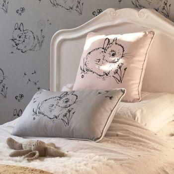 Little Bunny Cushion Grey