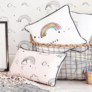 Rainbow Love Cushion Pink
