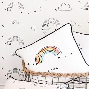 Rainbow Love Cushion Square