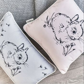 Little Bunny Cushion- Pink