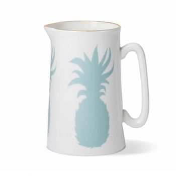 Pineapple China 1 Pint Jug with Gold Rim