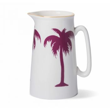 Palm Tree China 2 Pint Jug with Gold Rim