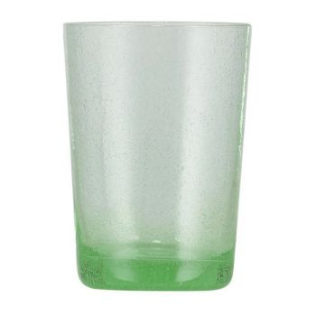 Handmade Hand Blown Bubble Glass Unique Tumbler Cup Malachite Green