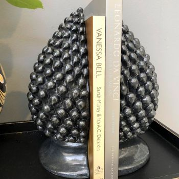 Handmade Hand Painted Pine Cone Bookend Ceramic Decor