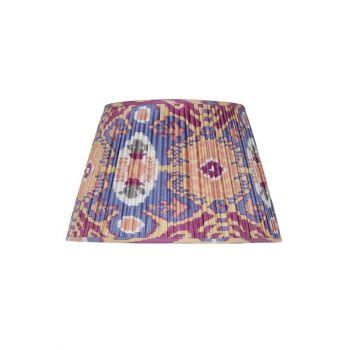 Handmade Hand Stitched Silk Ikat Lampshade Traditional Modern Blue Purple