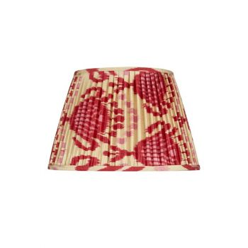 Handmade Hand Stitched Silk Ikat Lampshade Traditional Modern Pink Red