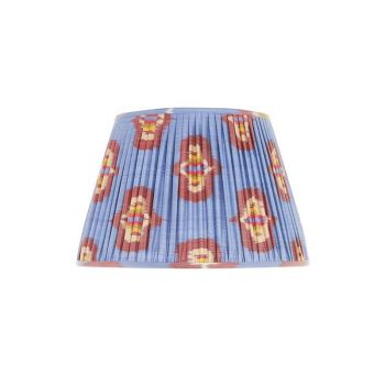 Handmade Hand Stitched Silk Ikat Lampshade Traditional Modern Blue