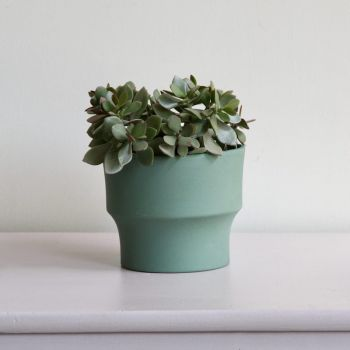 Handmade Large Contemporary Green Plant Pot