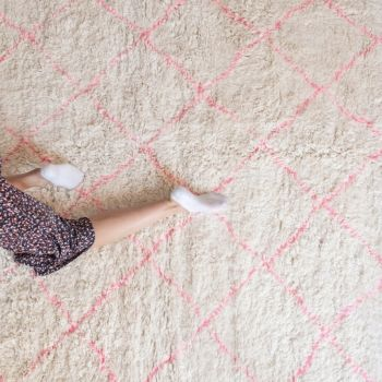 Handwoven Sheep Wool Beni Ourain 'Adilah' Rug