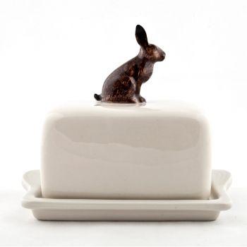 Hare Butter Dish Quail Ceramics